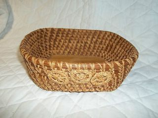 PINE NEEDLE BASKET TWO UNFINISHED GREAT FOR LEARNING TOOL