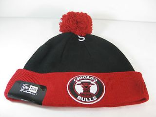 NEW ERA MENS CIRCLE KNIT BEANIE CHICAGO BULLS Black/Red Whit​e