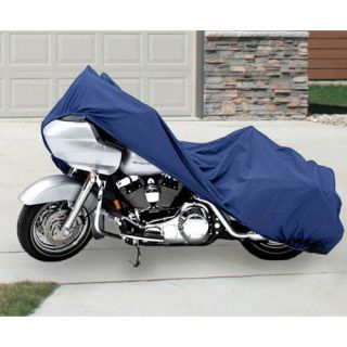 Waterproof Motorcycle Storage Cover XXL Sport Bike Blue Weather