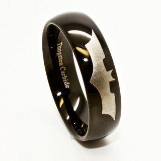 Batman Tungsten Wedding Band Ring