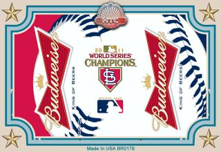 St Louis Cardinals World Series Champions Beer La Fridge Magnet