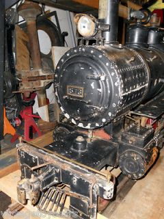 Gauge 1 1/2 Scale Live Steam Locomotive and Tender 2 6 0 Mogul
