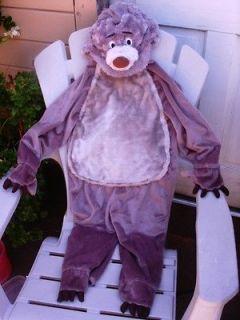 DISNEY JUNGLE BOOK BALOO BEAR FULL BODY PLUSH COSTUME & HAT XXS 2 3 4