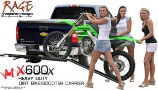 MOTORCYCLE DIRT BIKE CARRIER SCOOTER HAULER RACK + RAMP (MX 600X)