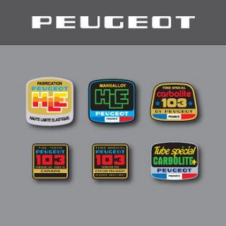 0390   Peugeot Bicycle Frame Tubing Decals   HLE   103   Carbolite