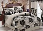 Gold Beige Brown Comforter Sheets Bedding Set King 9pcs