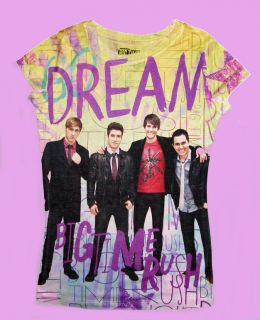 BIG TIME RUSH TV SHOW KENDALL JAMES CARLOS LOGAN GIRLS DREAM SHIRT