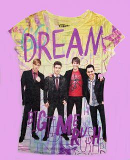 BIG TIME RUSH TV SHOW KENDALL JAMES CARLOS LOGAN GIRLS DREAM SHIRT