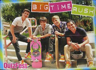 Big Time Rush Poster Centerfold 2302A Selena on back