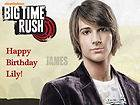 Edible Cake Frosting Image Topper Birthday BIG TIME RUSH   JAMES