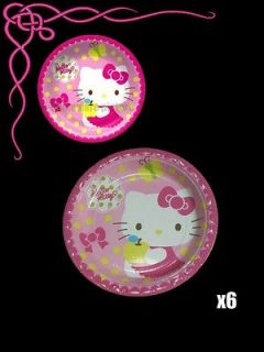 Sanrio Hello Kitty Birthday Party Supply x6 Paper Plates h154