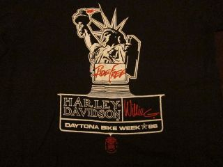 Harley Davidson Motorcycles Ride Free Bike Week Soft Thin T Shirt M L