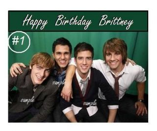 Big Time Rush Edible Cake/Cupcake/C​ookie Toppers