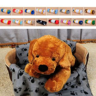 hot sell Soft Warm Towel Paw Prints Pet Puppy Dog Cat cute Blanket