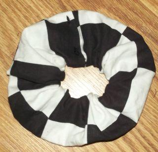 Big Checkered Flags Design Fabric Hair Scrunchie/