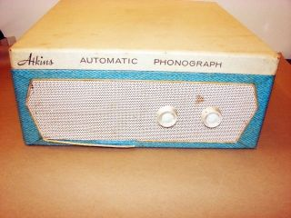 ATKINS CONCERT HALL 78 45 33 16 AUTOMATIC PHONOGRAPH     PARTS