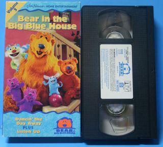 Bear in the Big Blue House Volume 3 Children Kids VHS Video Tape Fun