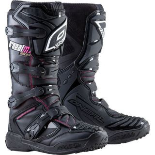 Element Womens Black / Pink Motocross MX Dirt Bike ATV Riding Boots