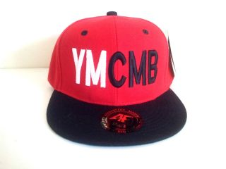 YMCMB (Young Money Cash Money Billionaires) Red/Black Snapback Cap