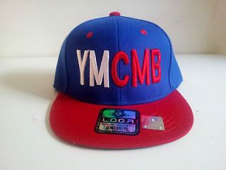 YMCMB (Young Money Cash Money Billionaires) Blue/Red Snapback Cap