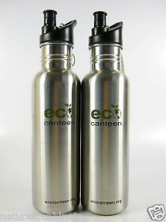 26 OZ ECO CANTEEN STAINLESS STEEL WATER BOTTLES WITH SIP LID LOT 2
