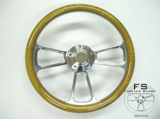 boat steering wheel wood in Antiques