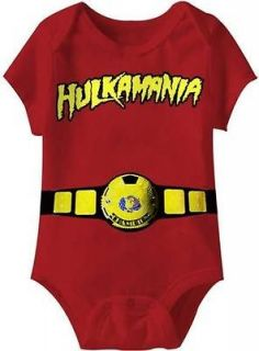 Hulk Hogan Hulkamania Logo World Champ Baby Infant Romper New Licensed