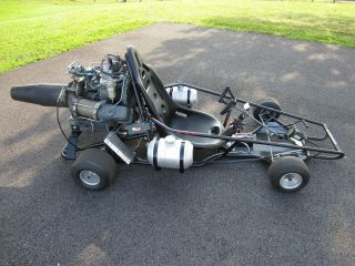 Jet Engine Powered Go Kart Boeing Gas Turbine Rat Rod