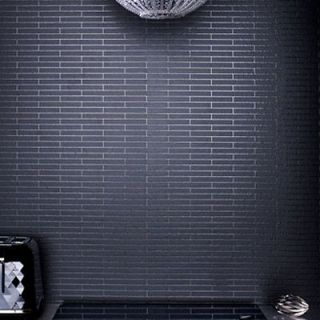 / Brick Effect Wallpaper, Black & Glitter textured brick Wallpaper