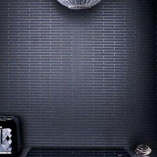 / Brick Effect Wallpaper, Black & Glitter textured brick Wallpaper