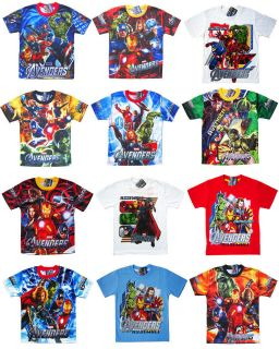 Movie Marvel Thor Iron Man Boys Kids T Shirt Top Clothes New CHOOSE
