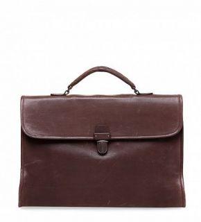 Authentic Mens Bottega Veneta Brown Leather Briefcase