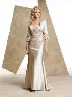 length Formal Wedding party Mother of the Bride dresses Free jacket