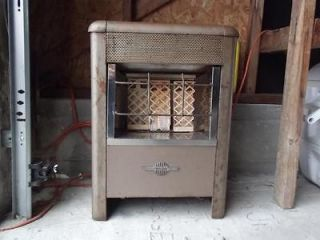 RAY GLO ANTIQUE RADIANT GAS HEATER WITH PORCELAIN BRICKS