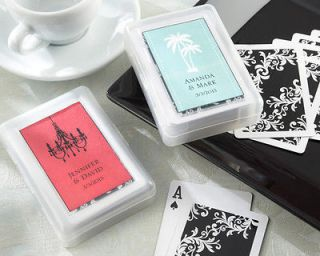 Suited Playing Cards in Personalized Travel Case Wedding Shower Favors