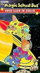 The Magic School Bus Gets Lost in Space VHS Scholastic Kid Vision