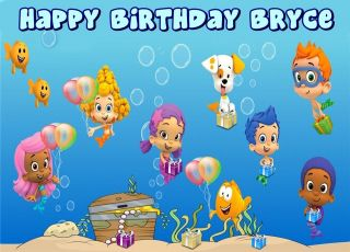Bubble Guppies Frosting Sheet Edible Cake Topper 1/4 sheet