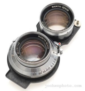 Mamiya 8cm 80mm f2.8 Lens for C220 C22 C3 Camera with Leather Case