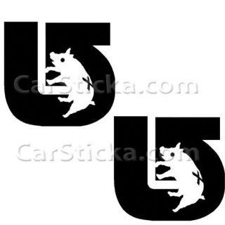 Burton UnInc Pig car vinyl sticker decal /C
