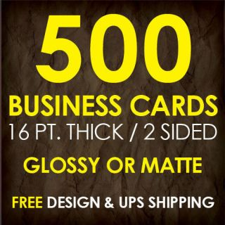 500 Custom Full Color Business Cards   Thick Paper   Glossy
