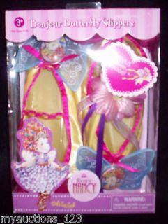 NEW FANCY NANCY Bonjour Butterfly Slippers & Bracelet