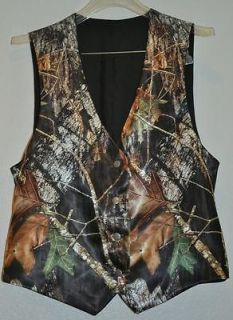 NEW Camo Wedding Vest/ 3X 4X/TALL  SATIN CAMO