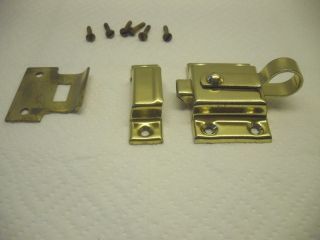 Brass TRANSOM tilt WINDOW LATCH CATCH loft lock spring loaded SHELBY