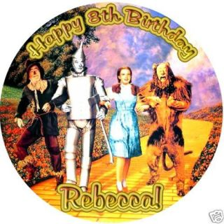 the WIZARD OF OZ Round Edible CAKE Image Icing Topper