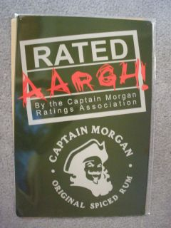 CAPTAIN MORGAN RUM LIQUOR.RATED AARGH! TIN SIGN   AS IS
