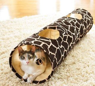 Giraffe Print Cat Tunnel Play Toy