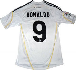 NEW REAL MADRID JERSEY CRISTIANO RONALDO # 9 MEN SIZE (MEDIUM) WHITE