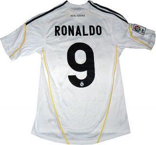 NEW REAL MADRID JERSEY CRISTIANO RONALDO # 9 MEN SIZE (MEDIUM) WHITE