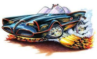 Batmobile Hot Rod Muscle Car Cartoon Tshirt FREE