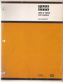 Case 1845 & 1845S Uni Loader Skid Steer Loader Parts Manual